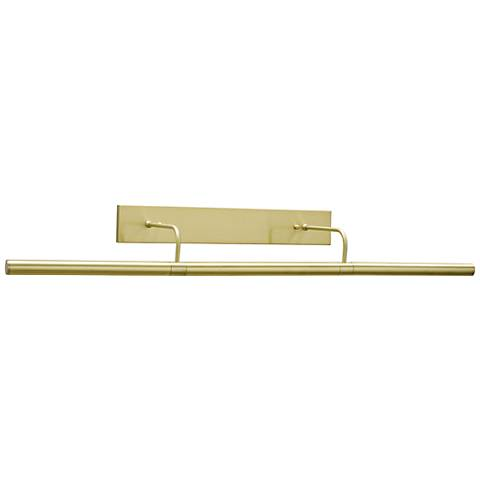 "Slim-Line 36"" Wide Satin Brass Direct Wire Picture Light"