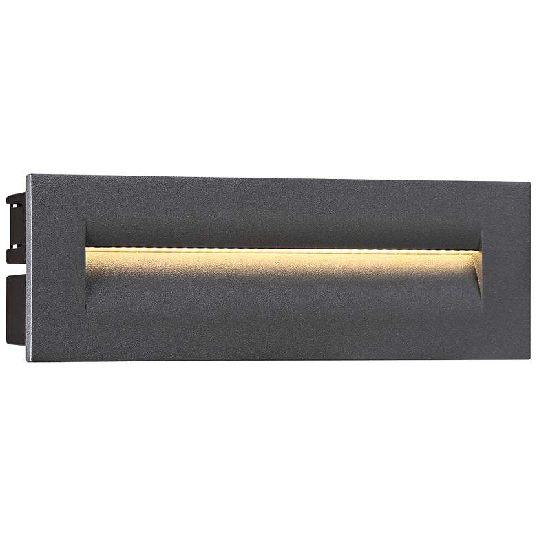 """Eurofase 10""""W Graphite Gray LED In-Wall Recessed Step"""