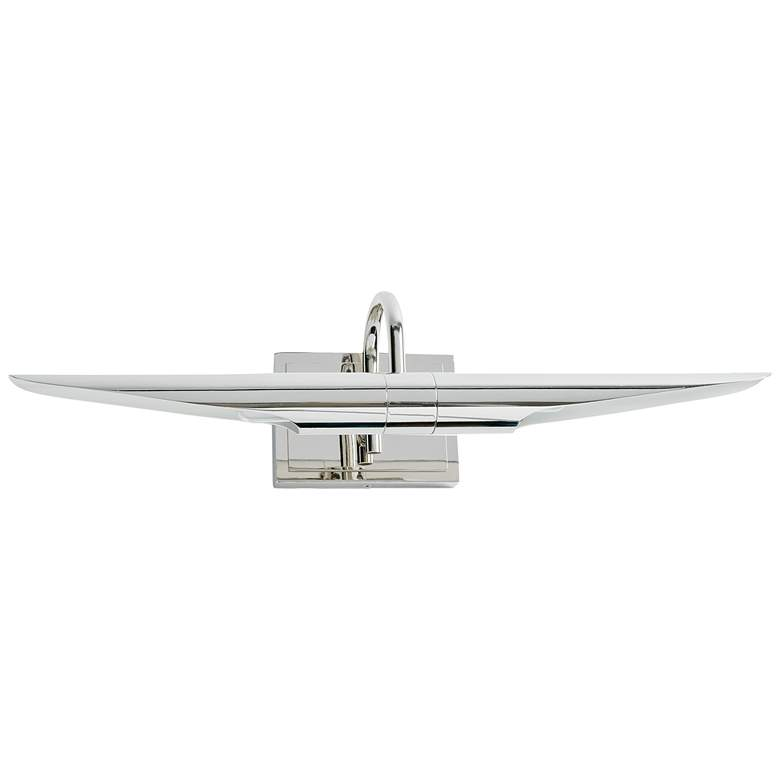 """Redford 22"""" Wide Polished Nickel 2-Light Picture Light"""
