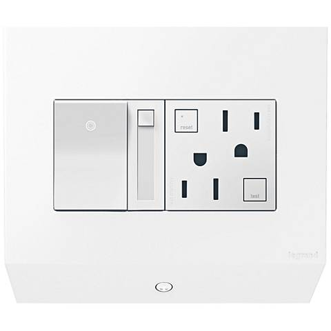 adorne® White Control Box with Paddle Dimmer and 15A GFCI