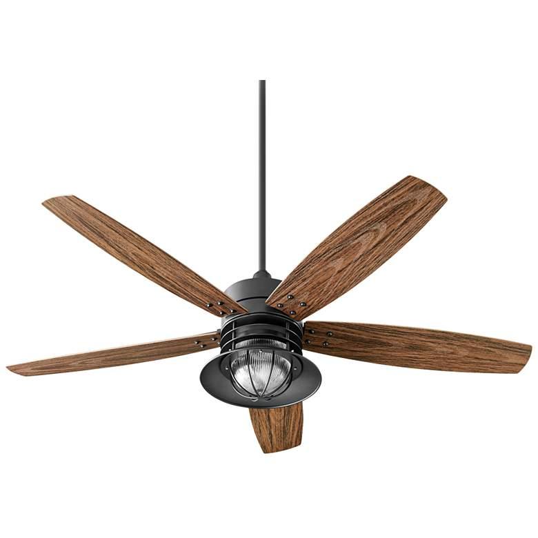 """60"""" Quorum Portico Noir Patio Ceiling Fan"""