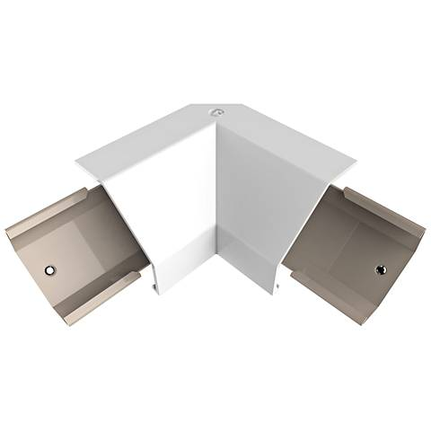 adorne® White Modular Track Corner Connector