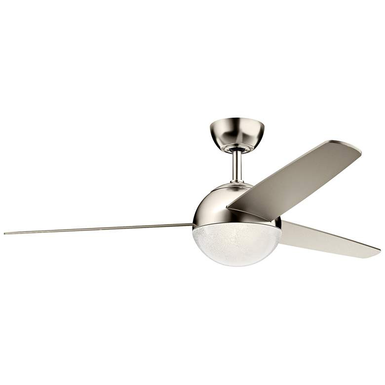 """56"""" Kichler Bisc Polished Nickel and Silver LED Ceiling Fan"""