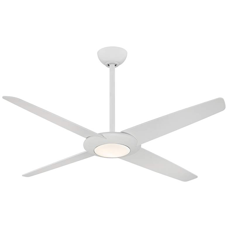 "62"" Minka Aire Pancake XL Flat White LED Ceiling Fan"