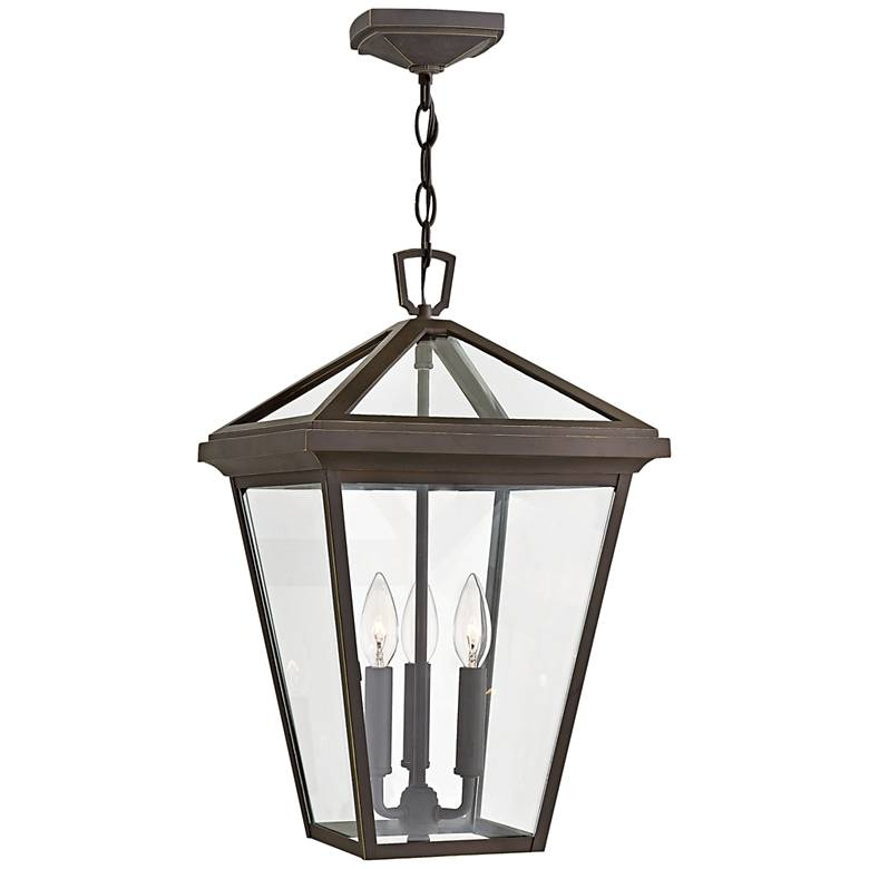 """Alford Place 19 1/2""""H Rubbed Bronze Outdoor Hanging Light"""
