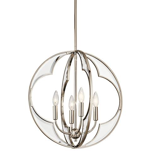 "Kichler Montavello 18 3/4"" Wide Nickel 4-Light Chandelier"