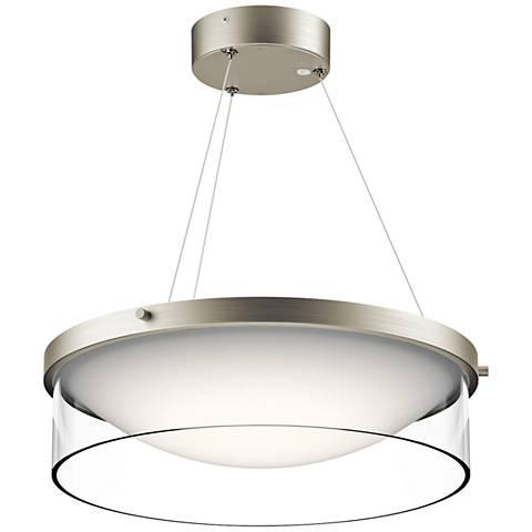 "Kichler Tarla 16 1/2"" Wide LED Brushed Nickel Pendant Light"