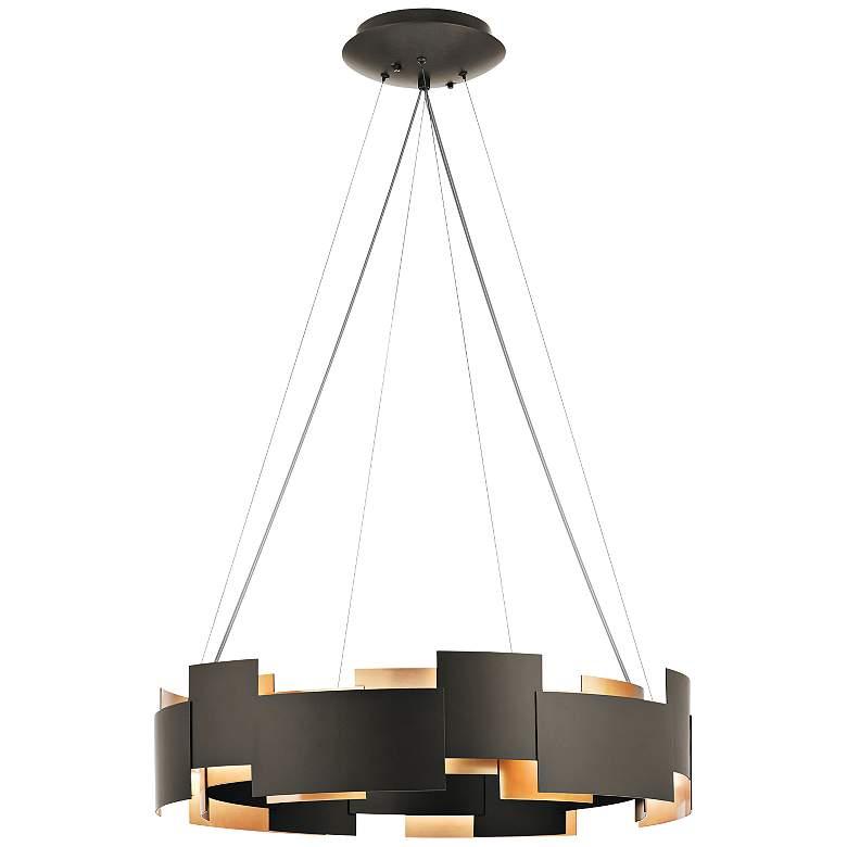 """Kichler Moderne 26 1/2"""" Wide LED Olde Bronze 2-Light Pendant"""