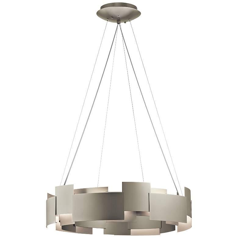 """Kichler Moderne 26 1/2""""W LED Satin Nickel 2-Light Pendant"""