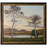 """Majestic Trees 41"""" Wide Textured Framed Print Wall Art"""