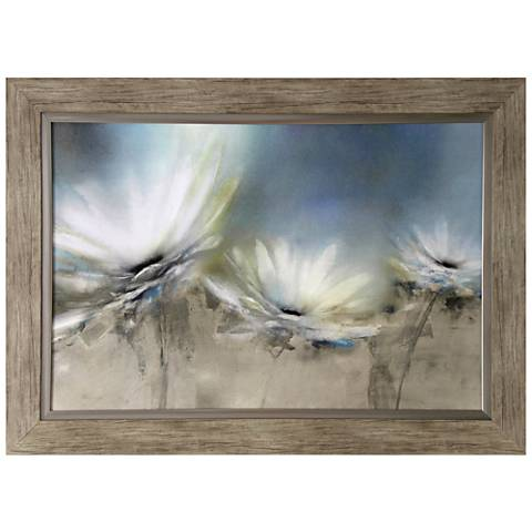 """White Daisy 44"""" Wide Textured and Framed Print Wall Art"""