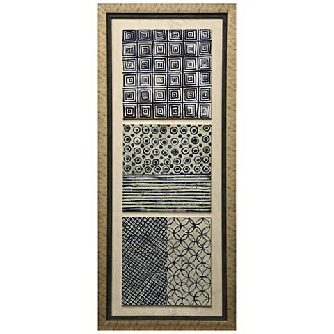 """Triptych I Dimensional 57 1/2"""" High Framed Print Wall Art"""