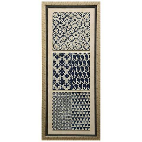 """Triptych II Dimensional 57 1/2"""" High Framed Print Wall Art"""