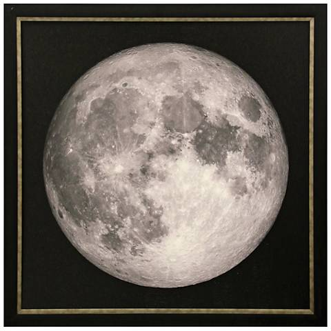 "Lunar Launch 40"" Square Textured Framed Print Wall Art"