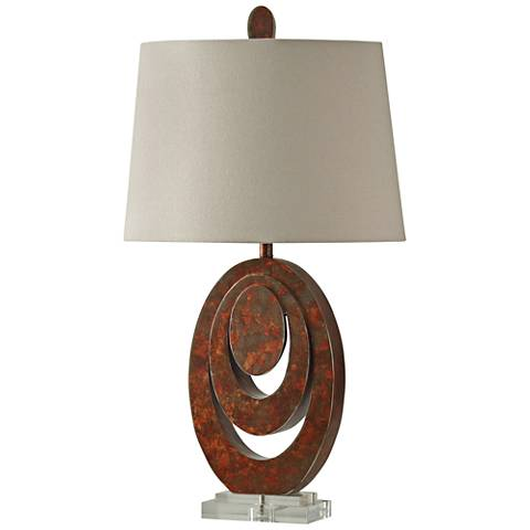 Uma Brown Stacked Rings Table Lamp