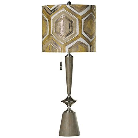 Abo Silver Geometric Table Lamp