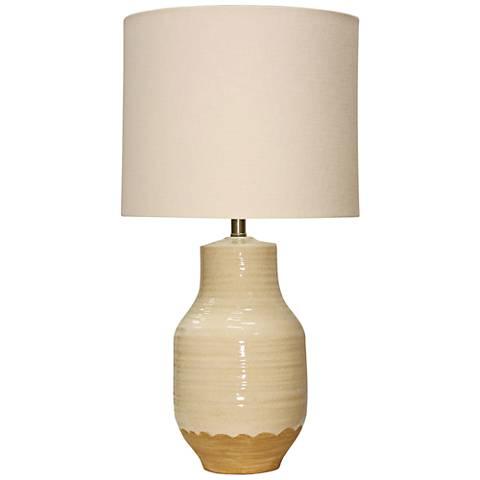 Henne Cream Ceramic Table Lamp