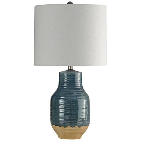 Henne Blue Ceramic Table Lamp