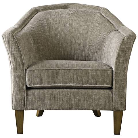 Uttermost Luca Gray Fabric Accent Chair