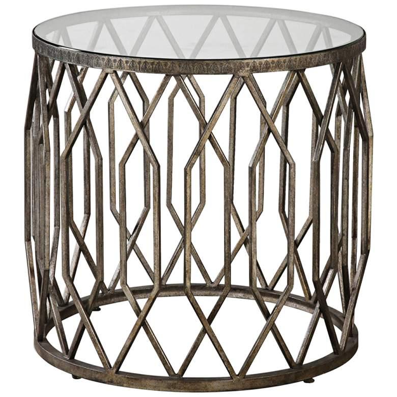 "Algoma 23 1/4"" Wide Bronze and Glass Geometric"