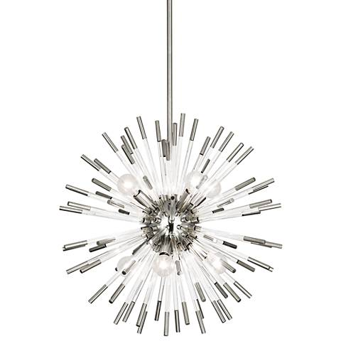 "Robert Abbey Andromeda 20""W Polished Nickel Pendant Light"