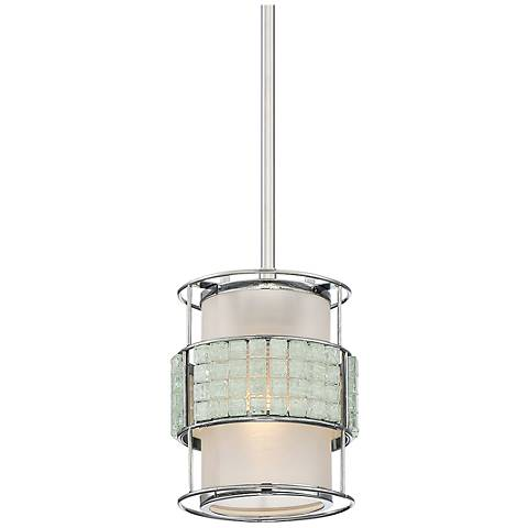 "Quoizel Boundary 6 1/2"" Wide Polished Chrome Mini Pendant"