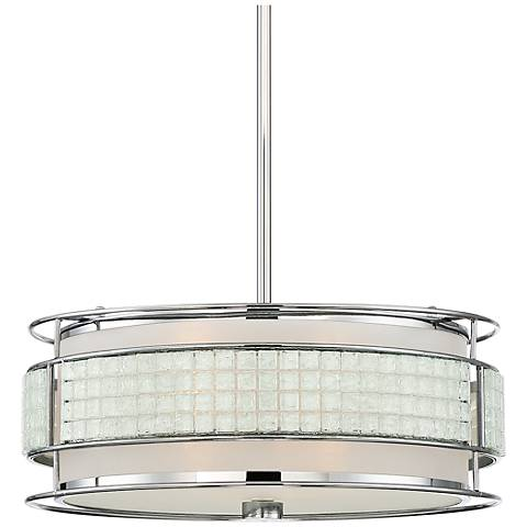 "Quoizel Boundary 16"" Wide Polished Chrome Pendant Light"