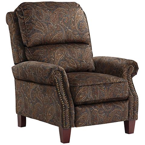 Prussia Dark Brown Paisley 3-Way Recliner Chair