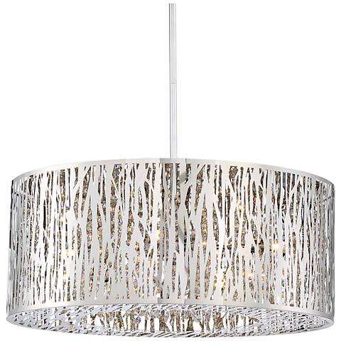 "Platinum Grotto 21 1/2"" Wide Polished Chrome Pendant Light"