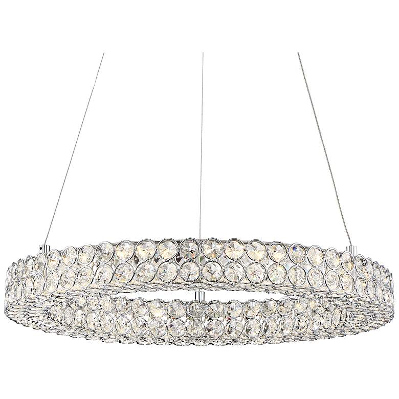 "Platinum Infinity 20"" Wide Polished Chrome LED Pendant Light"