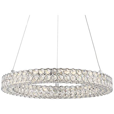 "Platinum Infinity 20"" Wide Polished Chrome LED Pendant Light"