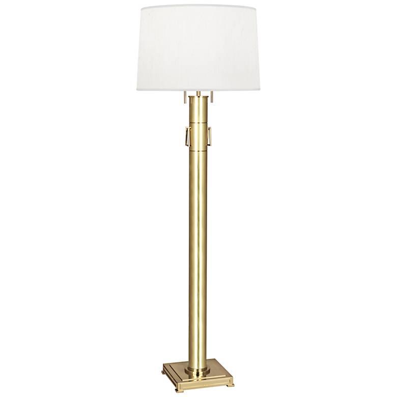 Robert Abbey Athena Modern Brass Column Floor Lamp