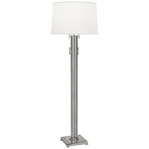 Robert Abbey Athena Polished Nickel Column Floor Lamp
