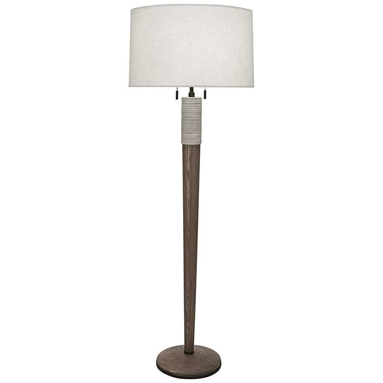 Michael Berman Berkley Walnut Floor Lamp with Cream Shade