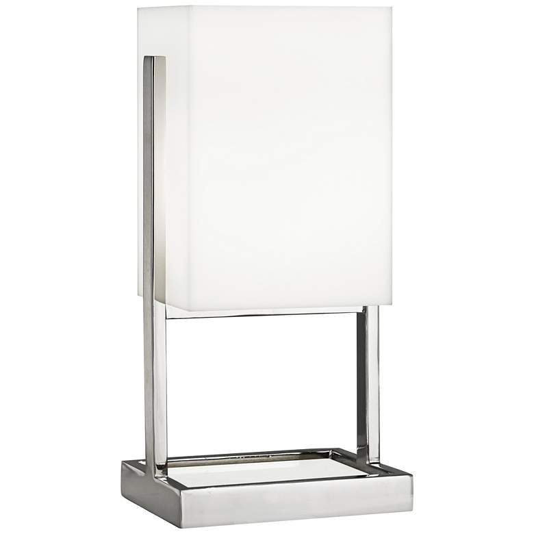 Robert Abbey Nikole Modern Polished Nickel Rectangle Accent Lamp