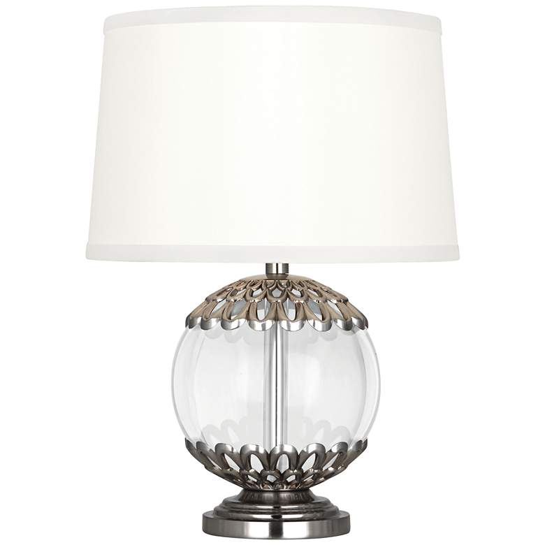 """Polly Antique Silver Orb 14"""" High Accent Lamp"""