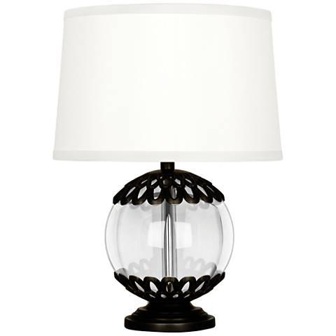 """Polly 14""""H Deep Patina Bronze Accent Lamp"""