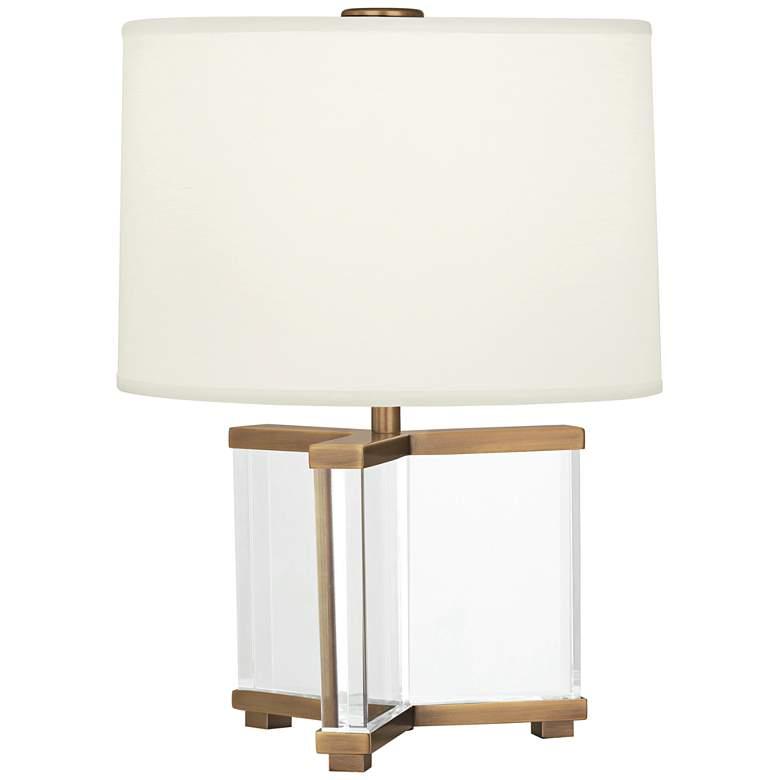 Robert Abbey Fineas Aged Brass/Ascot Cream Accent Lamp