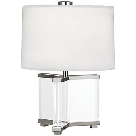 Robert Abbey Fineas Polished Nickel/Ascot White Accent Lamp