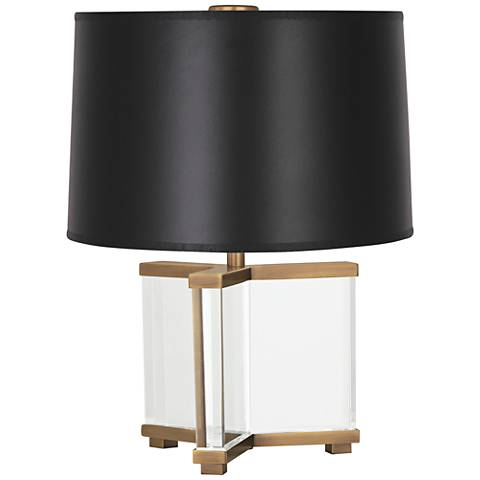 Robert Abbey Fineas Aged Brass/Opaque Black Accent Lamp