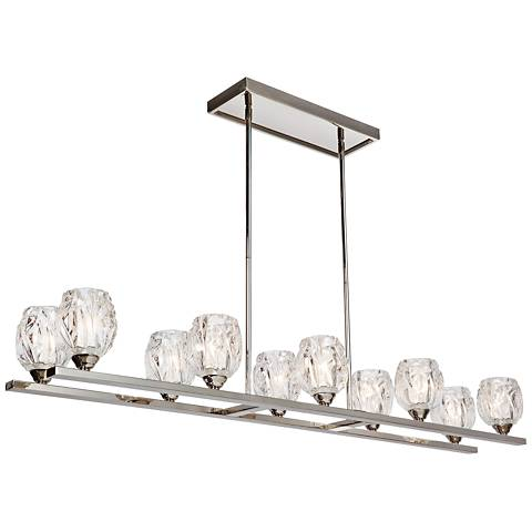 "Feiss Rubin 49""W Polished Nickel 10-Light Island Chandelier"
