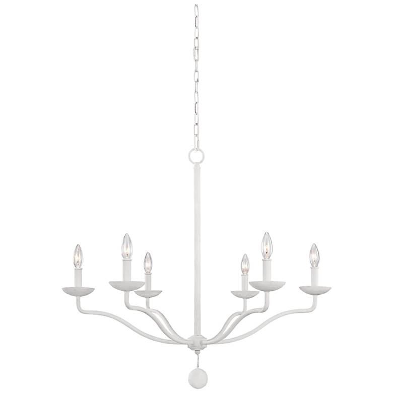 "Feiss Annie 32 1/2"" Wide Plaster White 6-Light Chandelier"