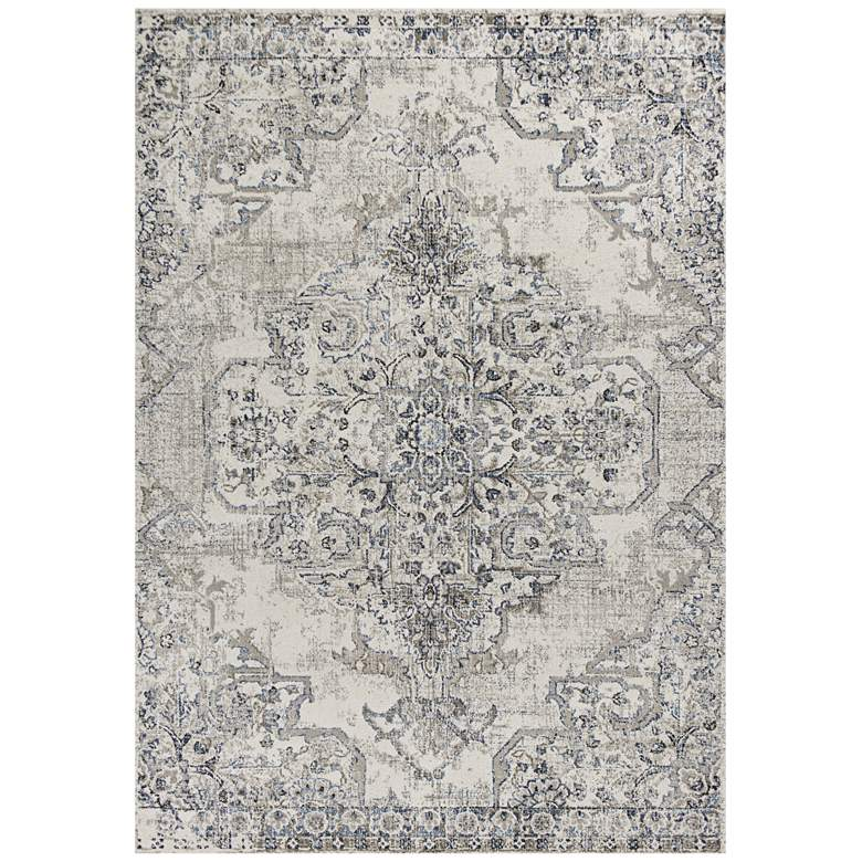 """Seville 9471 5'3""""x7'7"""" Ivory and Gray Area Rug"""