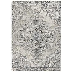 "Seville 9471 5'3""x7'7"" Ivory and Gray Area Rug"