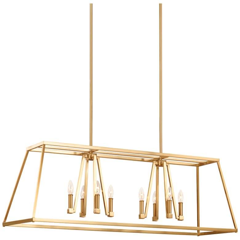 """Conant 48"""" Wide Satin Brass Kitchen Island Light Chandelier"""