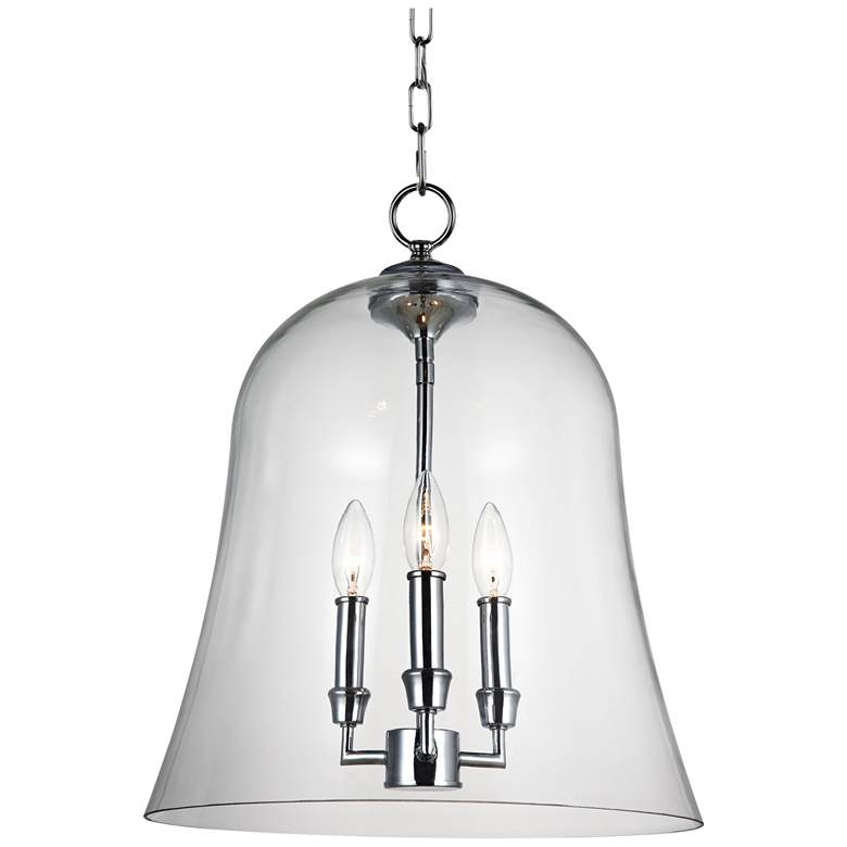 Feiss Lawler 14 3 4 Wide Clear Gl Bell Light Pendant