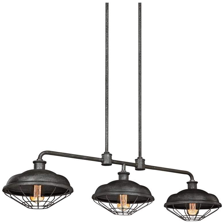 """Lennex 48"""" Wide Gray Outdoor Kitchen Island Light Chandelier"""