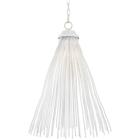 "Feiss Kellen 18 1/2""W Plaster White LED Pendant Light"