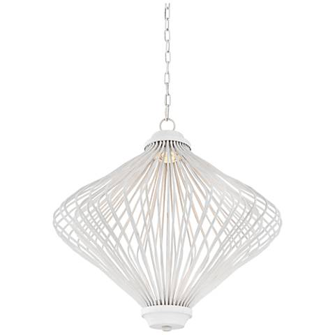 "Feiss Kellen 26"" Wide Plaster White LED Foyer Chandelier"