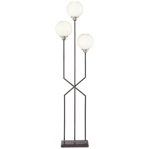 Boulevard Gunmetal 3-Light Modern Floor Lamp